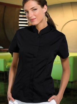 Bargear Ladies Mandarin Collar Bar Shirt